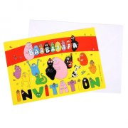 6 Invitations Barbapapa