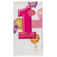 Contient : 1 x Nappe anniversaire 1 An fille