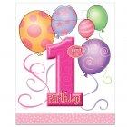8 pochettes à cadeaux anniversaire 1 an fille