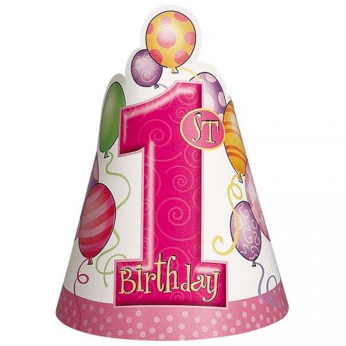 8 chapeaux  anniversaire 1 an fille