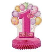 Centre de table anniversaire  1 an fille