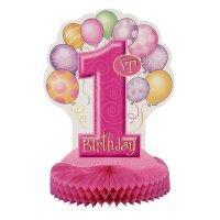 Contient : 1 x Centre de table anniversaire  1 an fille