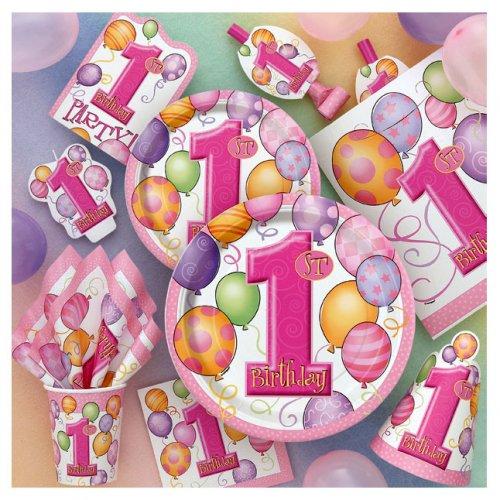 Grande boîte à fête anniversaire 1 an fille