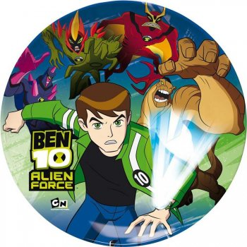 6 Assiettes Ben 10 Alien Force