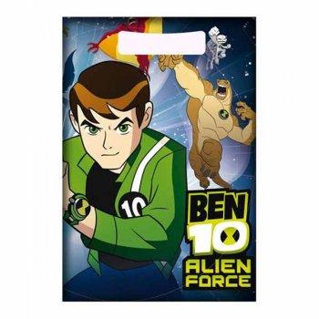 6 Pochettes à cadeaux Ben 10 Alien Force