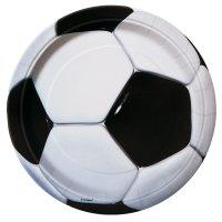 Contient : 1 x 8 Assiettes Ballon de Foot