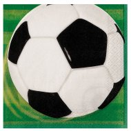 16 Serviettes Ballon de Foot