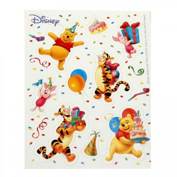 6 planches stickers Winnie et ses amis