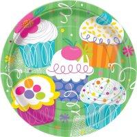 Contient : 1 x 8 Assiettes Cupcake