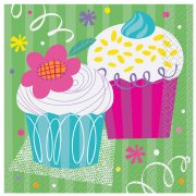 16 Serviettes Cupcake
