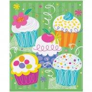 8 Pochettes à cadeaux Cupcake