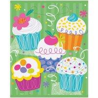 Contient : 1 x 8 Pochettes à cadeaux Cupcake