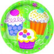 8 petites assiettes Cupcake