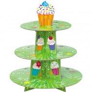 Présentoir à Cupcakes vert