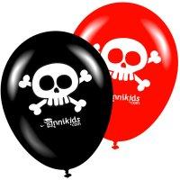 Contient : 1 x 8 Ballons Annikids Pirates-Party