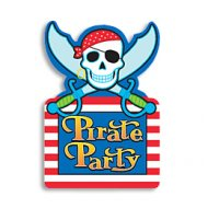 8 invitations Pirates-Party!