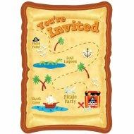 8 invitations Pirates-Party!