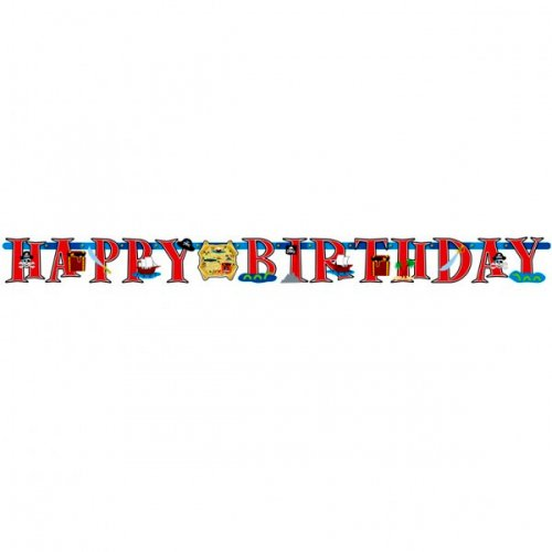 Guirlande lettres Happy Birthday Pirate party