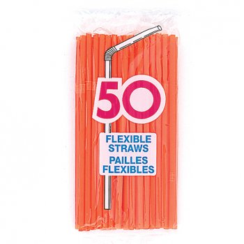 50 pailles Oranges