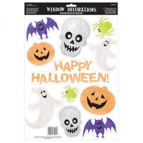 Décorations Fenêtres Happy Halloween Pailletées