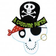 8 Invitations Pirate Squelette