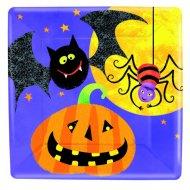 8 assiettes carrées Halloween