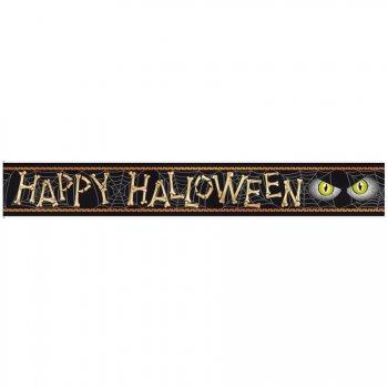 Bannière araignée happy halloween