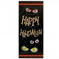 Affiche de porte araignée happy halloween