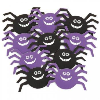 10 minis décorations araignées
