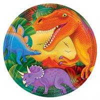 Contient : 1 x 8 assiettes Dino-Party!