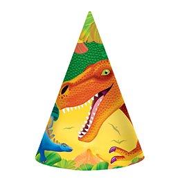 8 chapeaux Dino-Party!