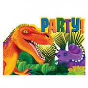 8 invitations Dino-Party!
