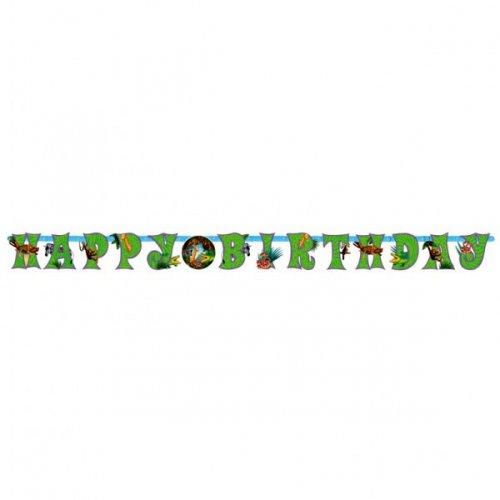 Bannière Safari Happy Birthday