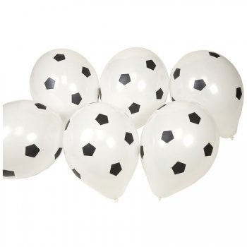 8 ballons football Blanc/Noir