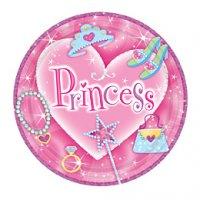 Contient : 1 x 8 assiettes Princesse