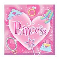 Contient : 1 x 16 serviettes Princesse
