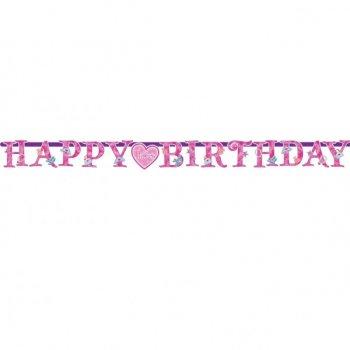 Guirlande lettres Happy Birthday Princesse