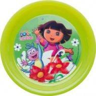 Assiette plastique 3D Dora l'Exploratrice