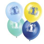 8 ballons 1st Birthday gar�on