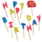 Bougies ''Happy Birthday'' Cars