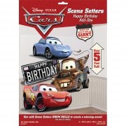 D�coration murale g�ante ''Happy Birthday'' Cars