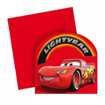 6 cartes d invitation Cars Lightyear