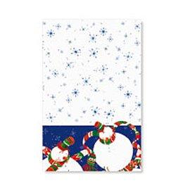 1 nappe Bonhomme de neige bleu