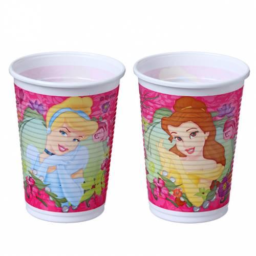 8 Gobelets Princesses Disney