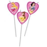 6 pailles Princesses Disney