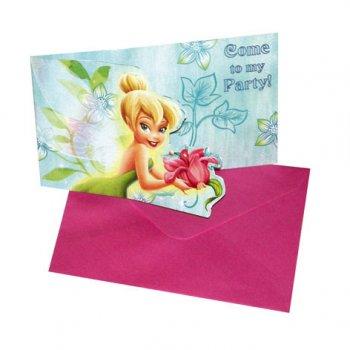 6 cartes d invitation Tinkerbell