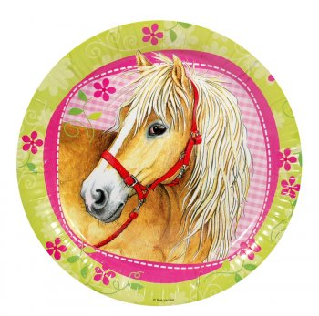 8 Assiettes cheval