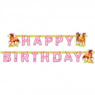 Guirlande Lettres Happy Birthday Cheval