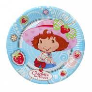 10 assiettes Charlotte aux fraises