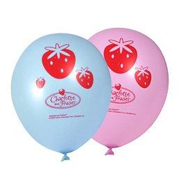 8 ballons Charlotte aux fraises